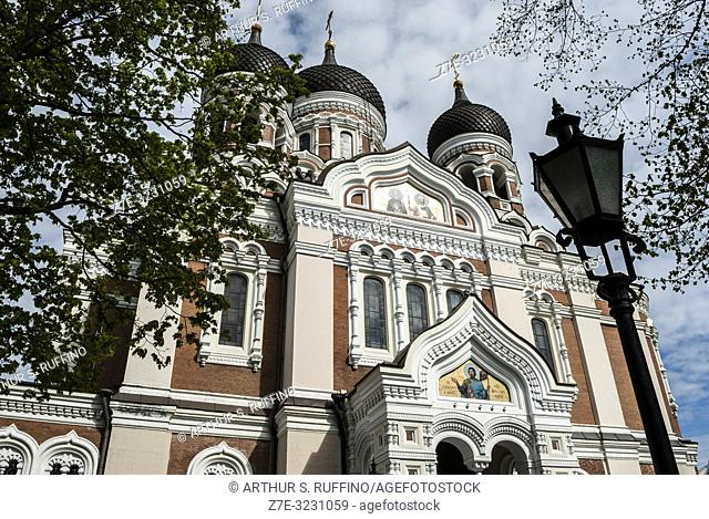 Alexander Nevsky Cathedral, Toompea Hill, Old Town, Tallinn, Estonia, Baltic States
