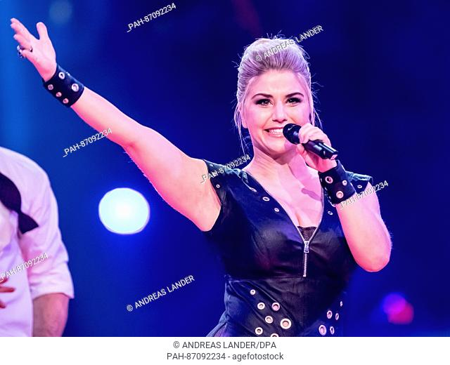 """The singer Beatrice Egli during the TV Show """"""""Hit Champions - Great party of the best"""""""" at the Velodrom in Berlin, Germany, 7 January 2017"""
