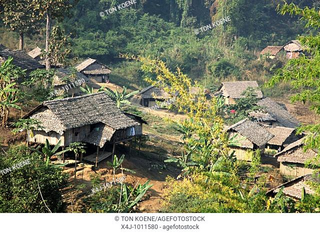 Close up of refugee houses in Mae Sot camp  Around 130,000 Burmese refugees have settled in Thailand due to opression in their homeland of Myanmar Burma...