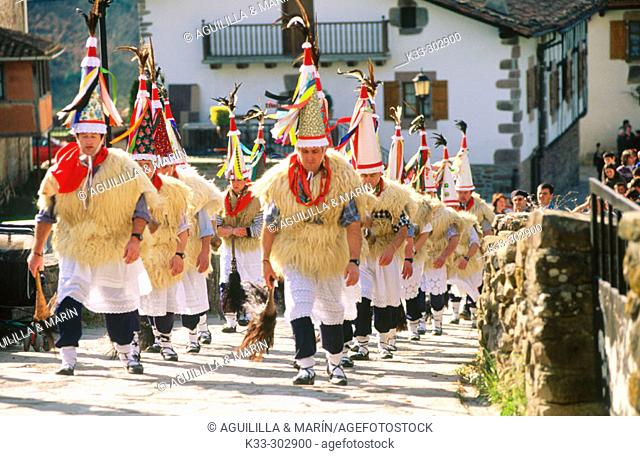 'El Zamparzat'. Ituren and Ubieta Carnival. Navarre. Spain