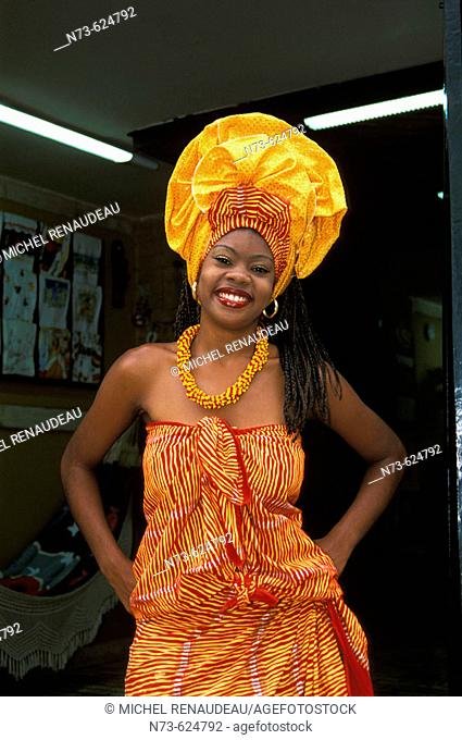 Woman in traditional dress. Salvador da Bahia. Brazil