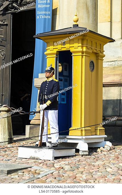 Royal Guard, Stockholm Palace, Stadsholmen Old Town tourist destination in Stockholm is the capital and largest city of Sweden