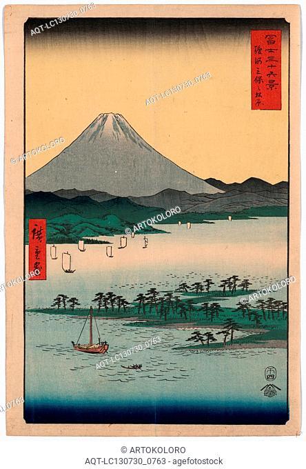 Suruga miho no matsubara, Pine beach at Miho in Suruga., Ando, Hiroshige, 1797-1858, artist, [Tokyo] : Tsuta-ya Kichizo, 1858
