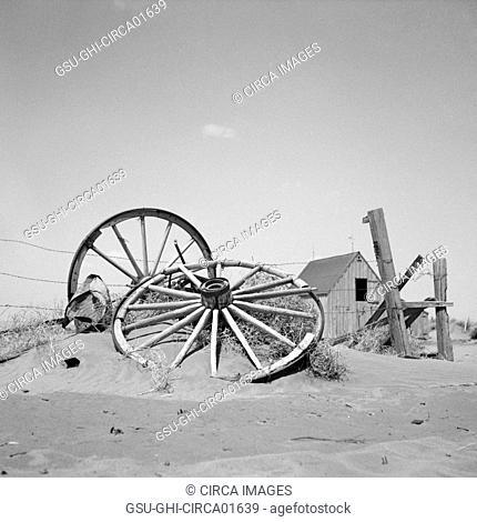Abandoned Farm, Cimarron County, Oklahoma, USA, Arthur Rothstein for Farm Security Administration, April 1936