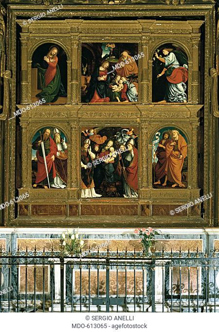 Polyptych of Novara - San Gaudenzio Polyptych (Polittico di Novara - Polittico di San Gaudenzio), by Gaudenzio Ferrari, 1510 - 1519, 16th Century, board