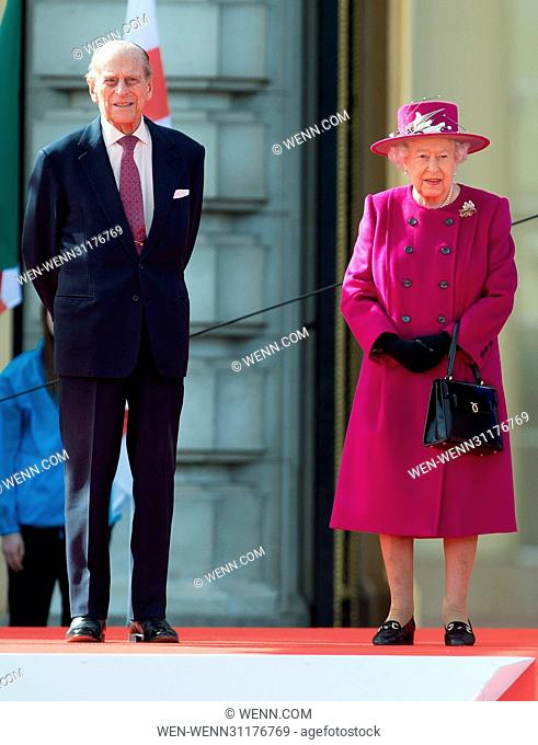 The Queen launches the Baton Relay for the XX1 Commonwealth Games, Gold Coast 4-15 April 2018 at Buckingham Palace in London on Commonwealth Day