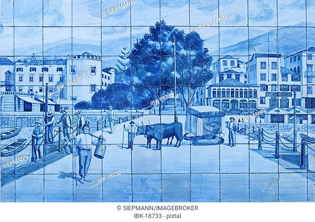 Tiles at theatre - Azulejos - Funchal - Madeira