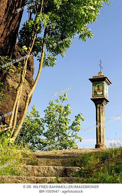 Wayside shrine, Unterer Burgstall, St. Thomas am Blasenstein, Muehlviertel, Upper Austria, Europe