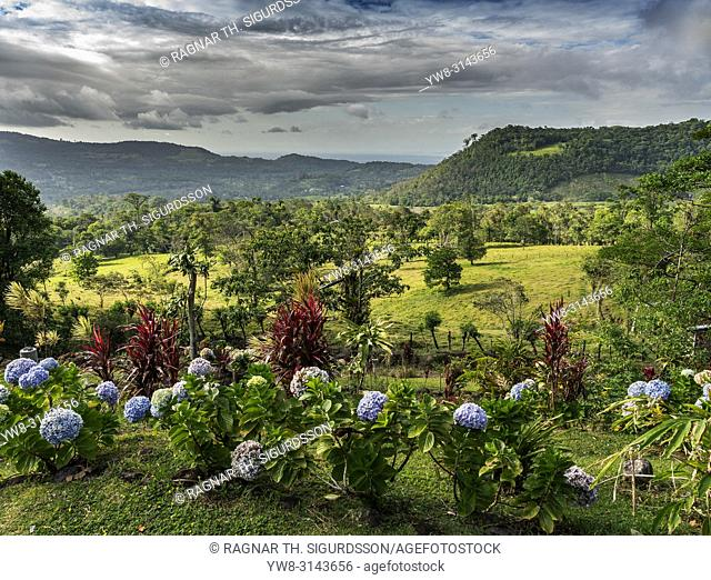 View from Mirador El Silencio Hotel, San Carlos, Costa Rica
