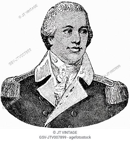 Nathanael Greene (1742-86), General in Continental Army during American Revolutionary War, Engraving, 1889
