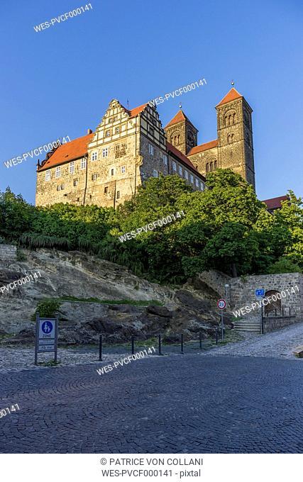 Germany, Saxony-Anhalt, Quedlinburg, Collegiate Church St. Servatius on castle hill