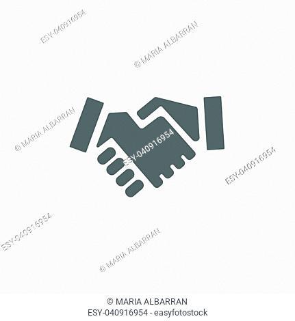 Handshake icon on a white background