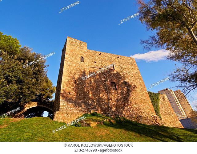 Spain, Catalonia, Barcelona Province, Terrassa, View of the Castle of Vallparadis.