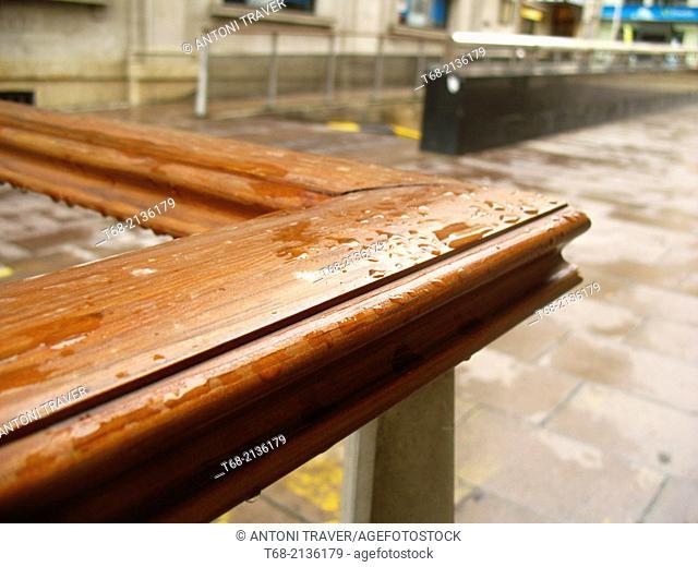 Railing in a public space, Lleida, Spain