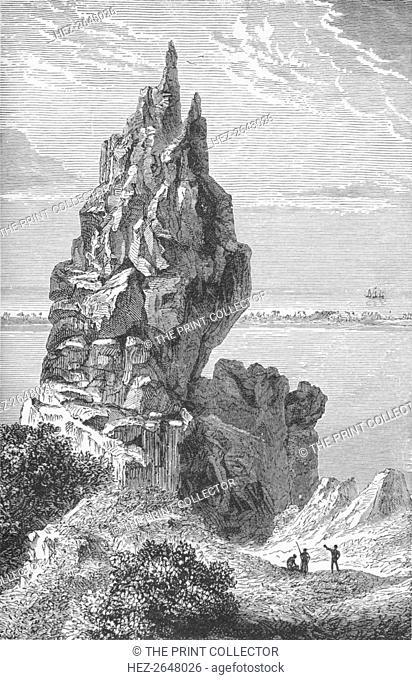 'Peak and Barrier-Reef of Borabora', c1885, (1890). Artist: Robert Taylor Pritchett