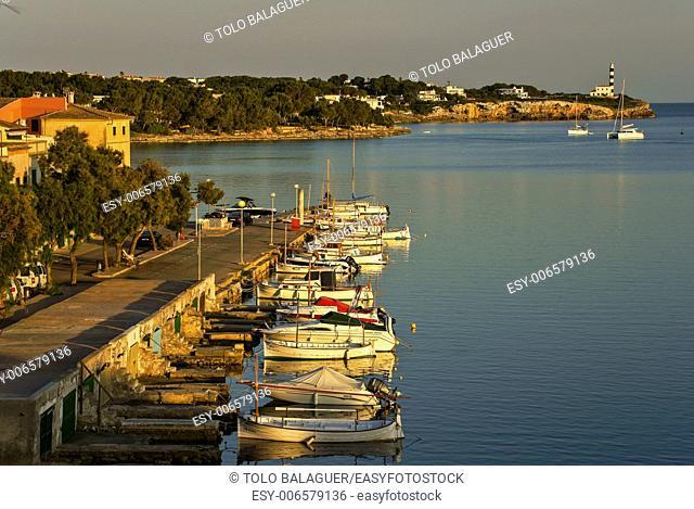enbarcaderos of Sa Capella. Porto Colom. Felanitx. Mallorca. Balearic Islands. Spain