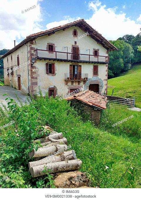 Ancient house in Elizondo, Baztan valley, Navarre, Spain