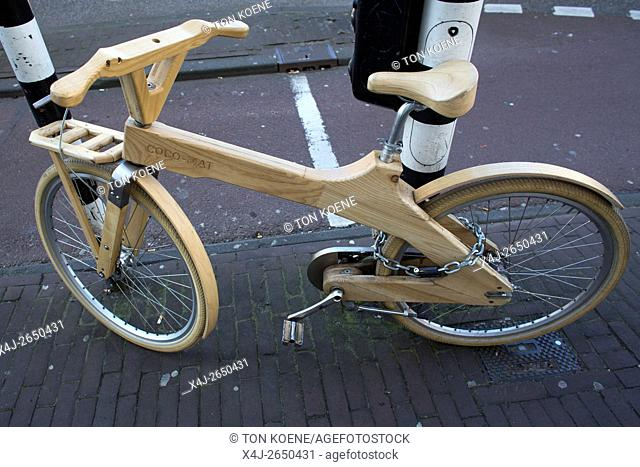 modern bicycles in Holland