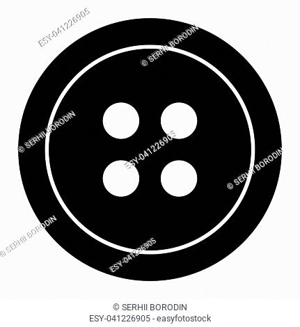 Clothing button it is the black color icon