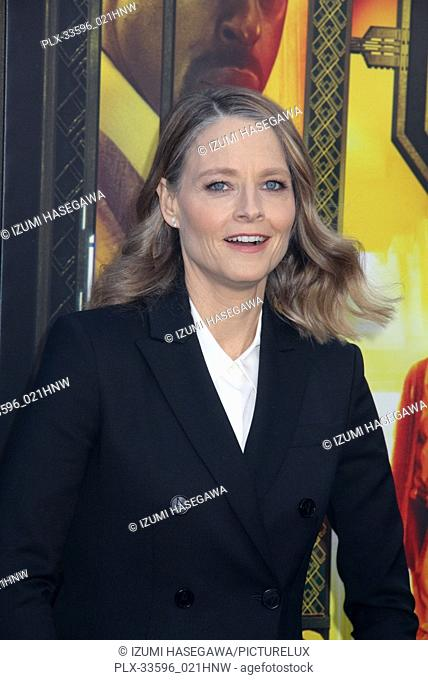 "Jodie Foster 05/19/2018 The Los Angeles premiere of """"Hotel Artemis"""" held at the Regency Bruin Theatre in Los Angeles, CA Photo by Izumi Hasegawa / HNW /..."