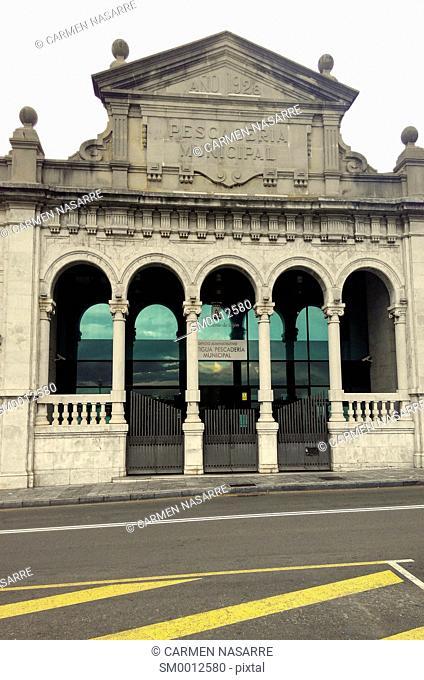 Building of the old town of Gijon, Asturias
