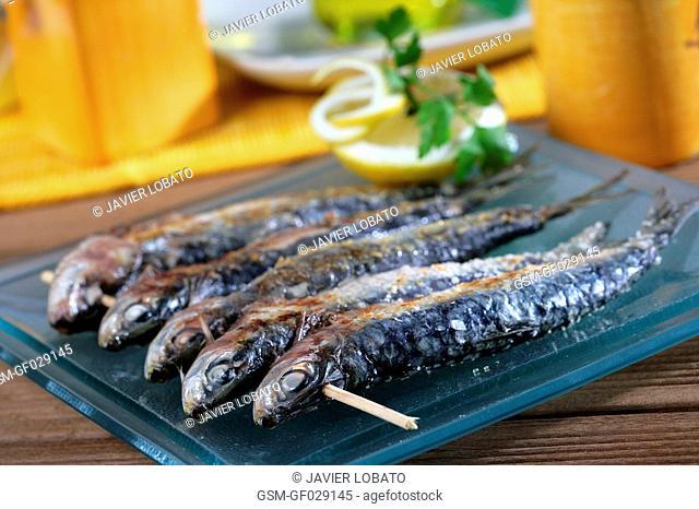 Sardines skewer