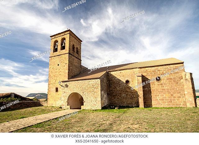 Church of La Asunción in the village of Martes, Huesca, Spain