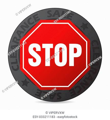 Stop Sign With Sticker Stock Photos And Images Age Fotostock