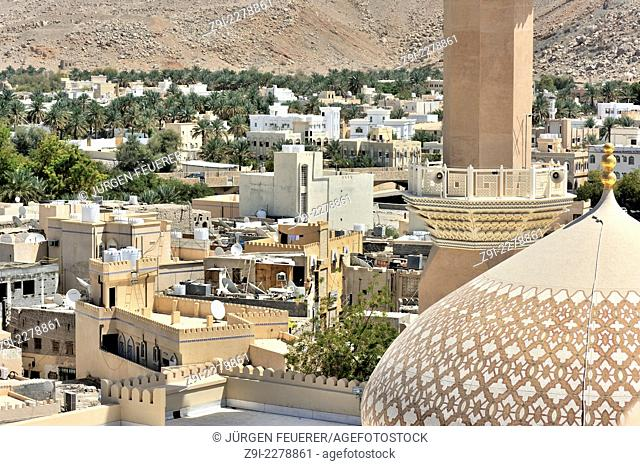 The roofs and surrounding of Nizwa, Sultanate of Oman