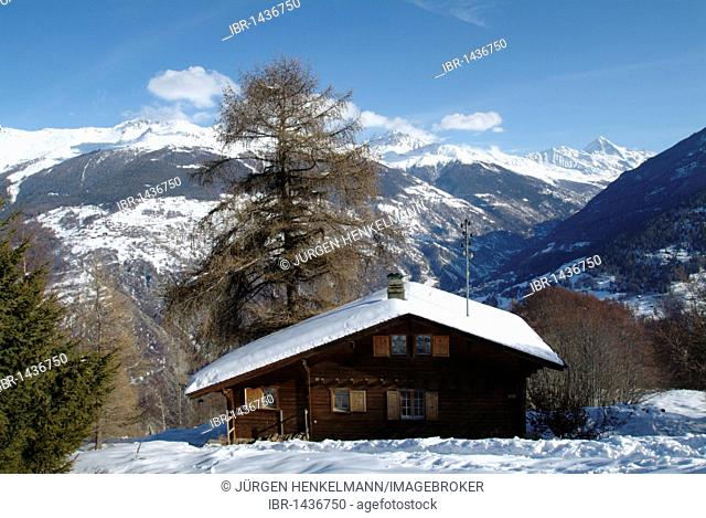 Chalet, Les Masses, Heremence, Val d'Heremence, District d'Herens, Ering, Valais, Switzerland, Alps, Europe