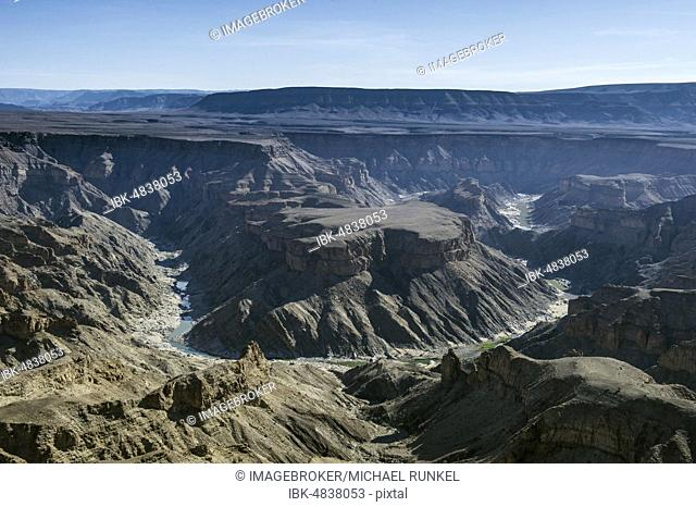 Overlook over the Fish River Canyon, Namibia, Africa