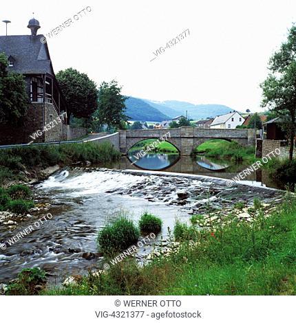 DEUTSCHLAND, HAHNENBACH, KIRN-LAND, D-Hahnenbach, Verbandsgemeinde Kirn-Land, Hahnenbachtal, Naturpark Soonwald-Nahe, Hunsrueck, Nordpfaelzer Bergland