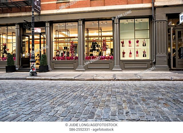 Partial View of a Retail Store in the Soho Section of Manhattan, New York City