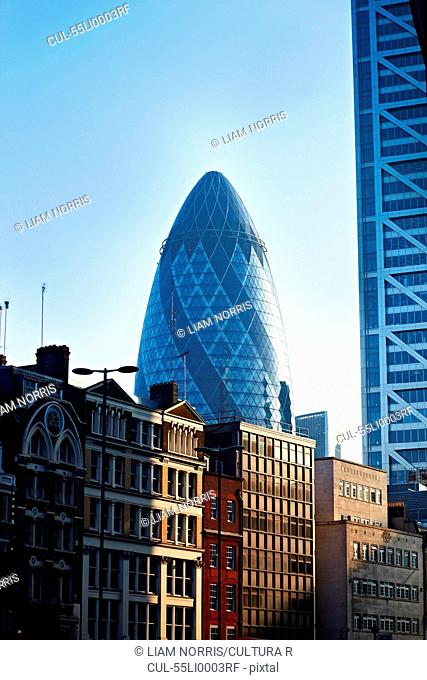 The Gherkin building, London, England, UK