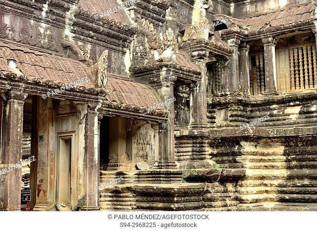 Detail of Angkor Wat, Siem Reap, Cambodia