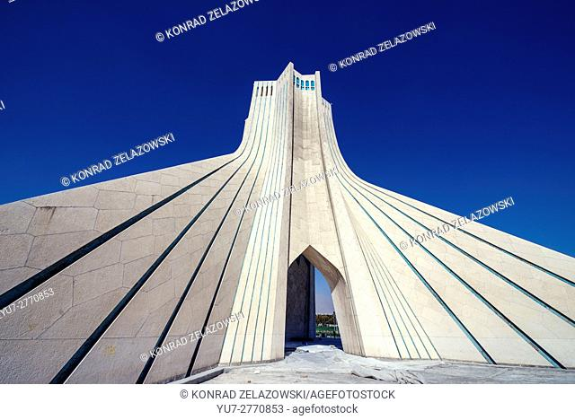 Azadi Tower, formerly known as the Shahyad Tower, located at Azadi Square in Teheran city, Iran
