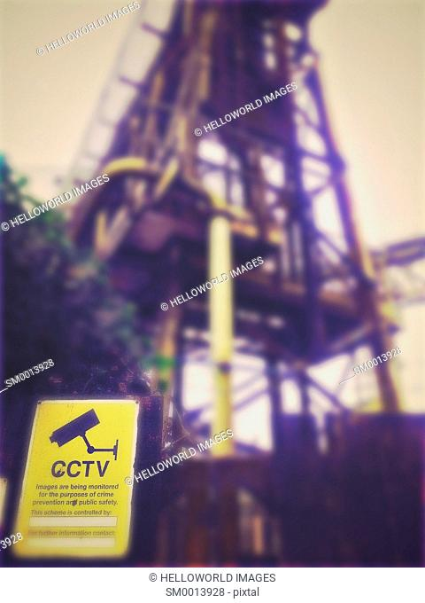 CCTV closed circuit television cameras in operation sign