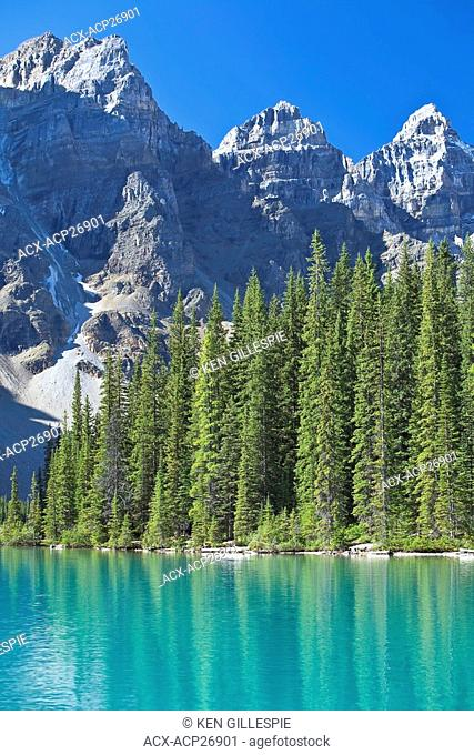 Moraine Lake and Valley of the Ten Peaks. Banff National Park, Alberta, Canada