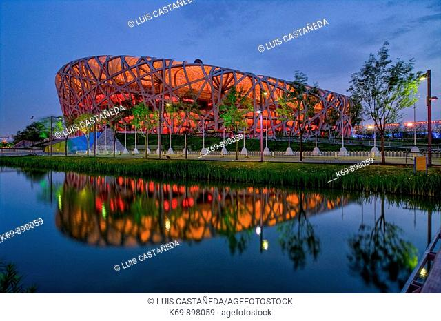 The National Stadium, Beijing,  People's Republic  of China