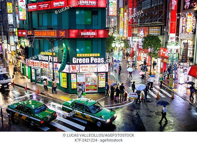 Street scene in east exit of Shinjuku JR station, Shinjuku, Tokyo