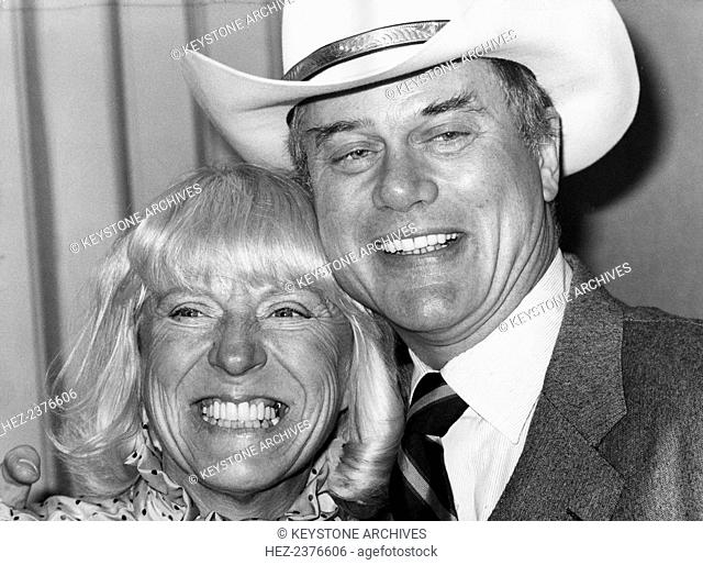 Larry Hagman, American film and television actor, and his wife Maj Axelsson, London, 21 March 1980. Hagman (1931-) is best known for his portrayal of scheming...