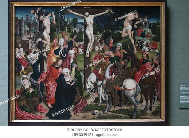 """""""The Crucifixion"""", 1509, by Derick Baegert (1440/45-1509)"""