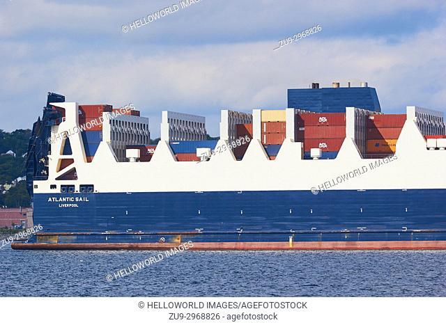 Atlantic Sail cargo container ship, Halifax, Nova Scotia, Canada