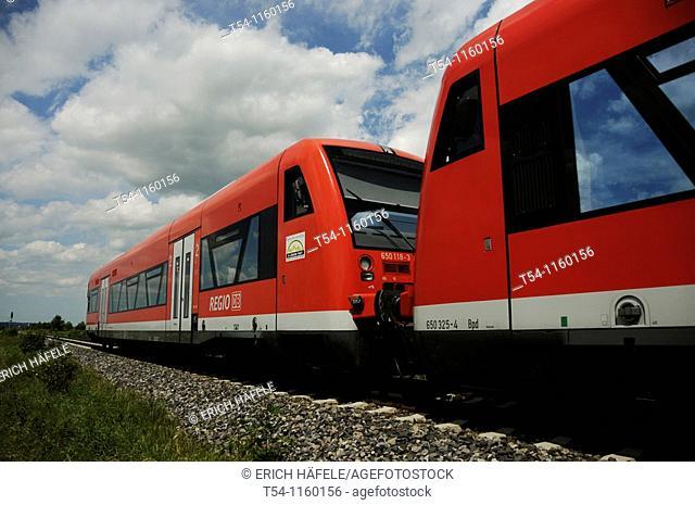 Deutsche Bahn commuter train on a free ride