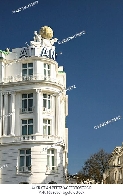 View of the Hotel Atlantic, Hamburg, Germany