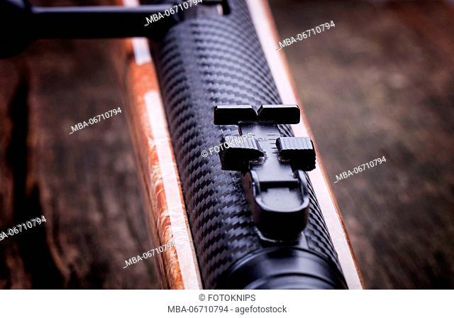 Airgun, detail, notch, close-up