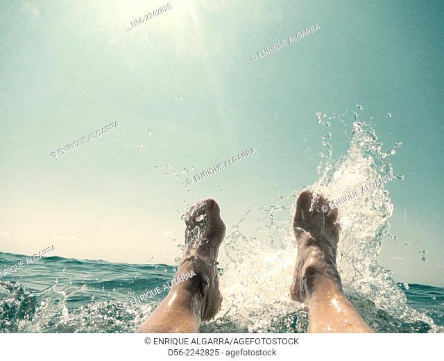 feet at the sea, Benidorm, Alicante province, Spain