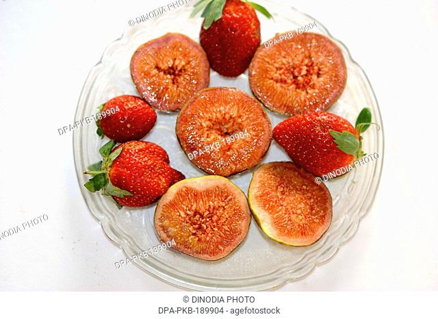 Figs and strawberries India Asia