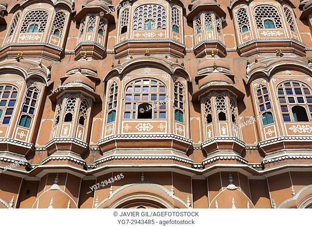 Hawa Mahal, Palace of the Winds, Jaipur, Rajasthan, India