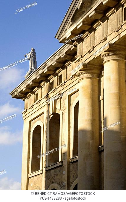 Detail of the Clarendon Building, Oxford University, Oxford, UK  The former home of the Oxford University Press, the building is now a part of the Bodleian...